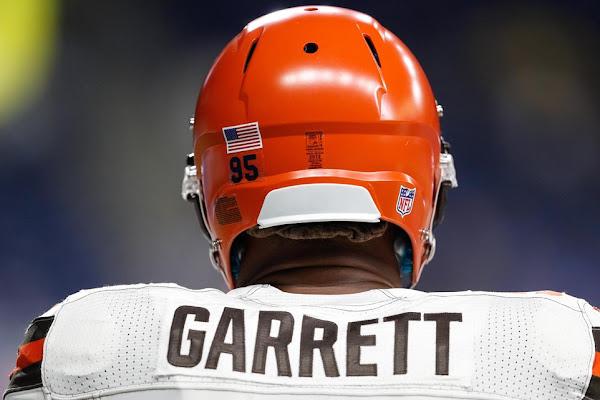 b405ffa3f6e WATCH  Cleveland Browns DE Myles Garrett ends New York Jets drive by  sacking Sam Darnold