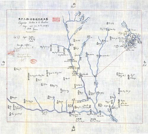 Bản đồ biên giới vùng Vân Nam theo công ước 1887