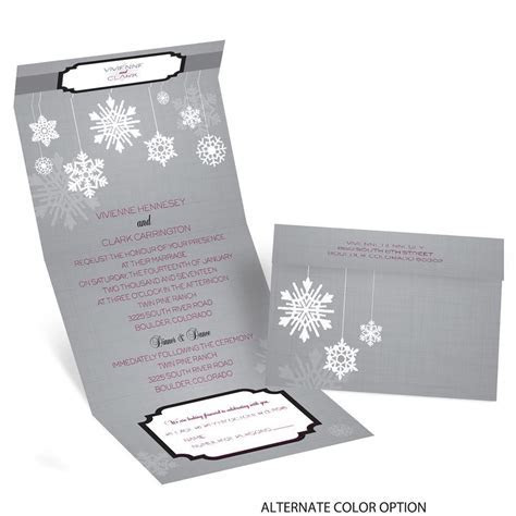 Snowflake Pendents Seal and Send Invitation   Invitations