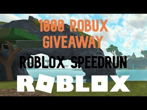 Roblox Speed Run 4 1000 ROBUX Giveaway!!!