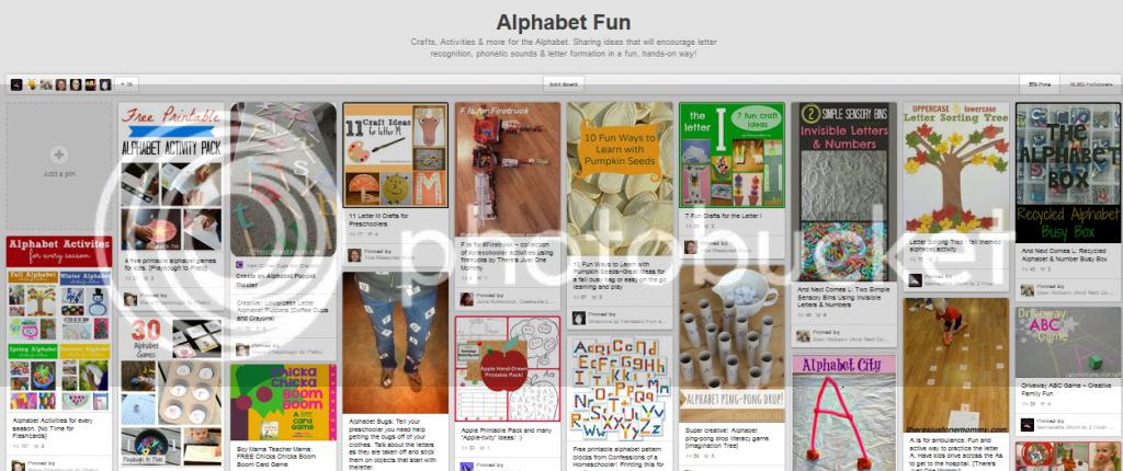 Alphabet fun pinterest board