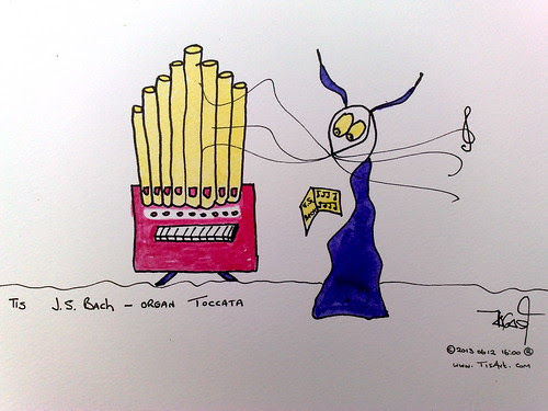 Tis J.S Bach - organ toccata © ® by Tis Art