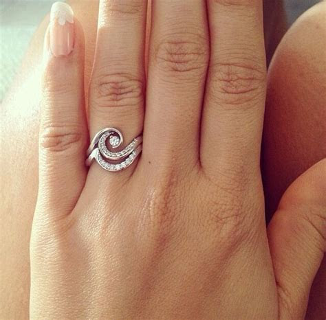 Diamond wave ring, beautiful!    Women's Engagement Rings