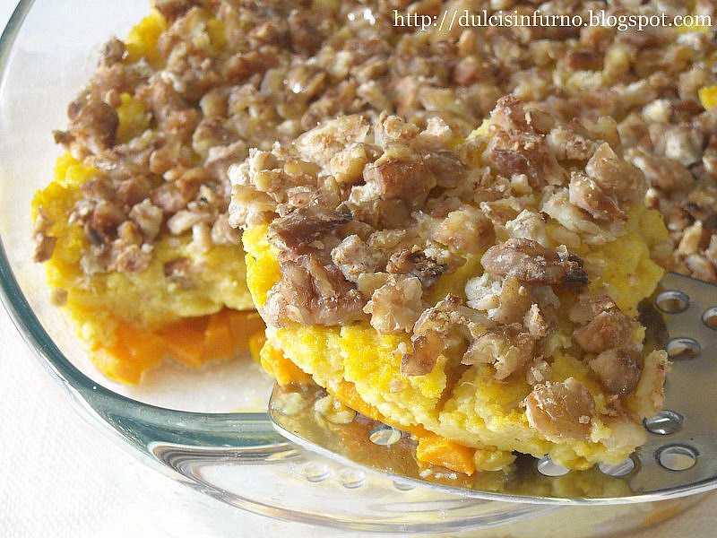 Sformato di Polenta ai Funghi con Castagne e Zucca-Mushroom Polenta Pie with Chestnuts and Pumpkin