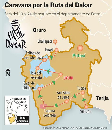 Una caravana pasará por la zona del Dakar