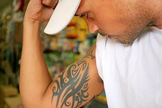 Leandro Djehdian, comerciante da capital paulista, fez a tatuagem de um ideograma errado e depois a cobriu com outro desenho