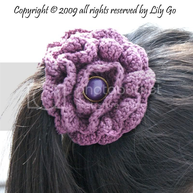Crocheted Flower in Hair