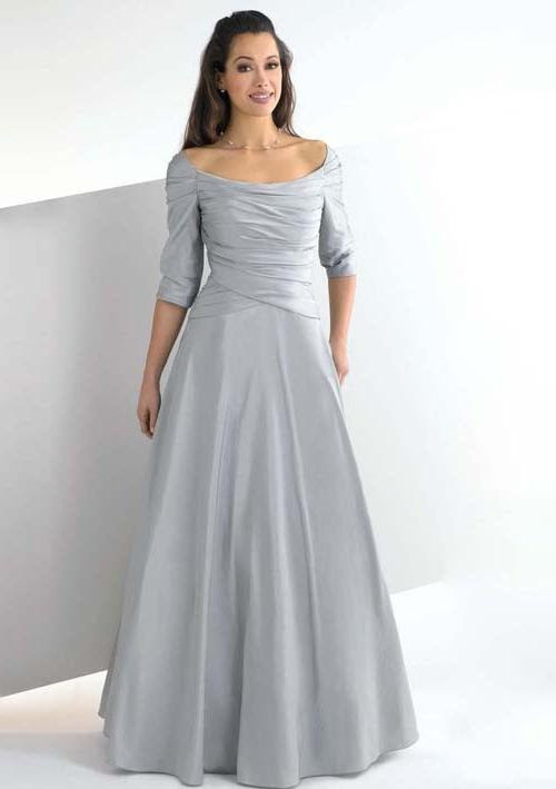 Silver Gowns Plus Size