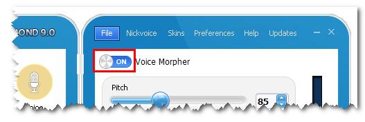 Turn on Voice Morpher