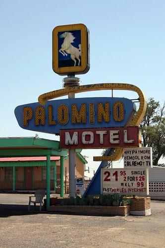 palomino motel sign