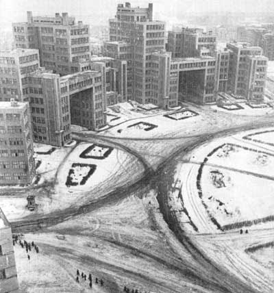 The Gosprom complex on Dzerzhinsky Square