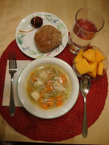 Lemon chicken orzo soup done!