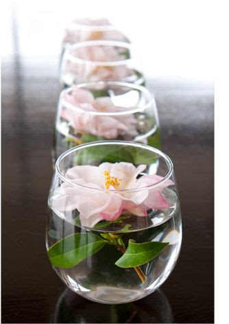 So simple, so pretty camellia arrangement