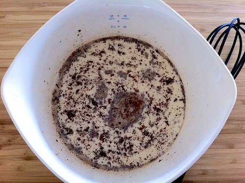 Chopped Chocolate Whisked into Hot Milk