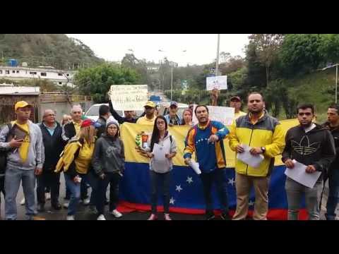 Protestan en el municipio Los Salias por decisión del TSJ contra la AN (VIDEO)
