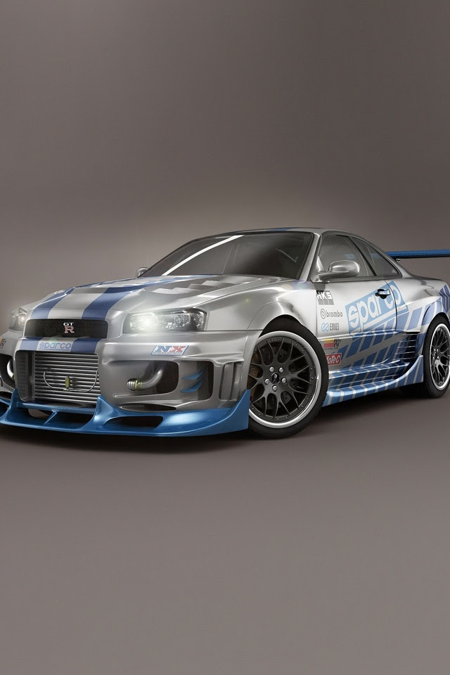 Cars - Nissan Skyline GTR R34 V Spec - iPad iPhone HD ...