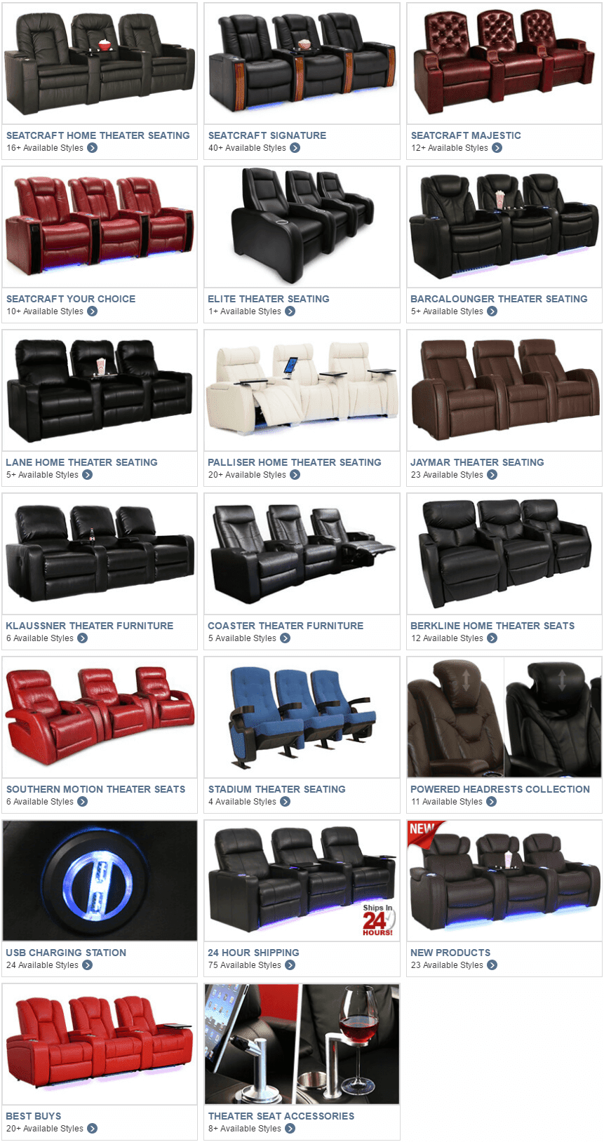 Home Theater Seating Collection