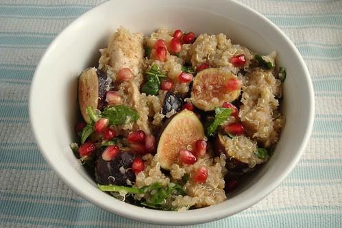 Quinoa Fig and Pomegranate Salad