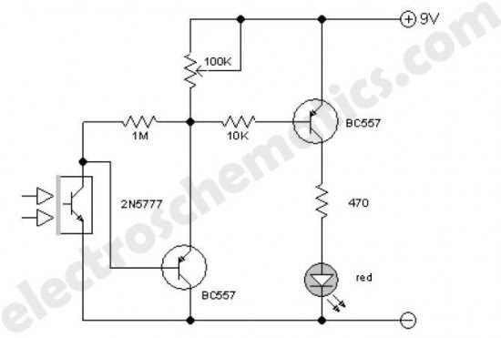 infrared detector circuit diagram