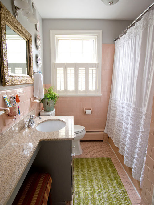 Pink Bathroom Home Design Ideas, Pictures, Remodel and Decor