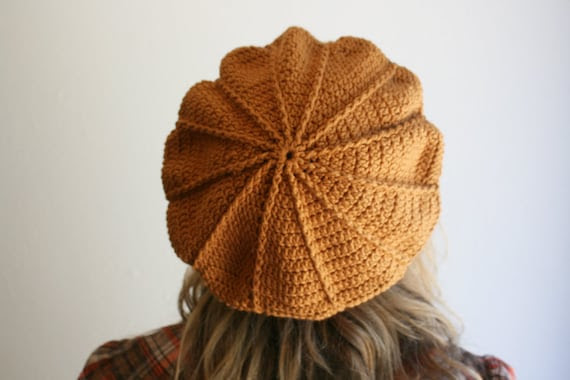 Dark Honey Cotton Beret