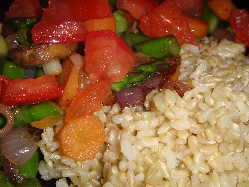 Vegetable Stir Fry with Massa Rice