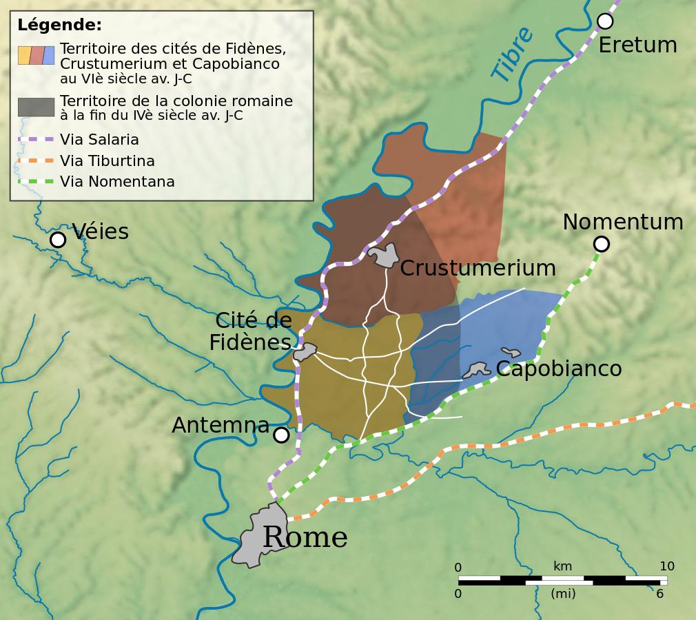 Fil: IVe et Fidènes VIe siècles avant JC.svg