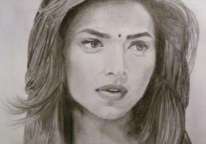 300x210 Pencil Sketch Beautiful Girl