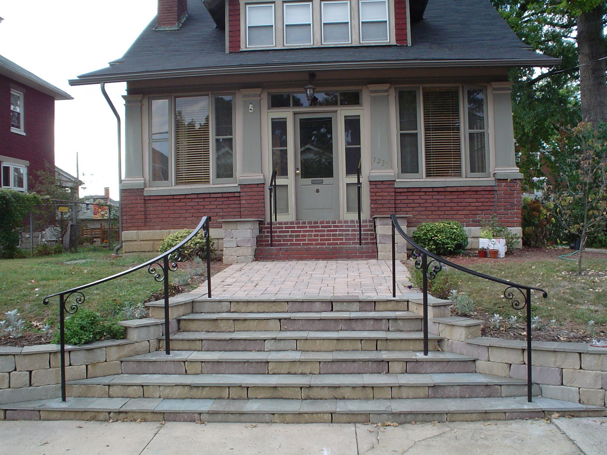 Porch : Brick Front Porch Steps Curved on front entrance steps designs, house entry designs, house front porch designs, cabin front porch designs, front stoop designs, house walkway designs, stone front house designs, house sidewalks designs, backyard step designs, basement step designs, small front porch designs, concrete front steps designs, brick paver step designs, country front porch designs, house front stairs designs, front entrance flower bed designs, front wall designs, house sidewalks with negative grading, patio step designs, front entryway designs,