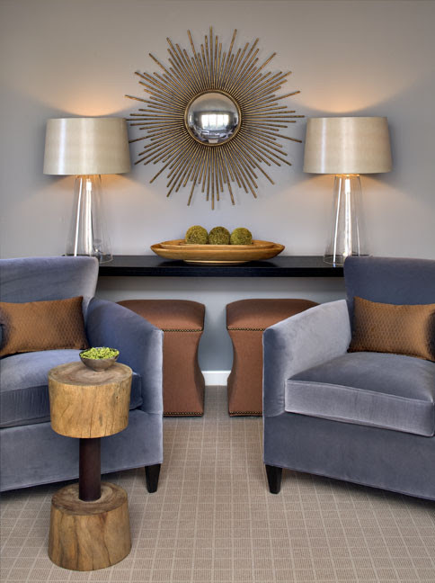 Wakefield Residence modern living room, vignette, console table