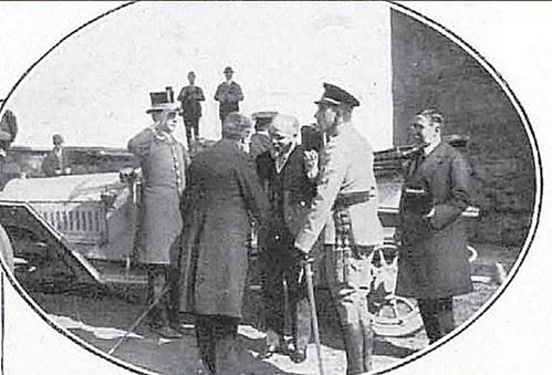 Recibimiento del alcalde de Toledo a Alfonso XIII y Raymond Poincare en Toledo (Puente y Puerta de Alcántara) en 1913