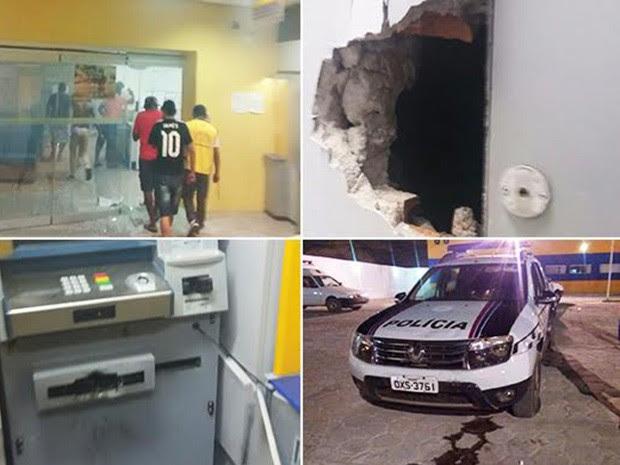 Bandidos exolodem agênciua bancária em Coelho Neto (Foto: Divulgação/Polícia Civil)