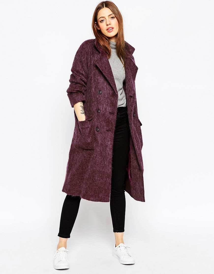 Image 1 of ASOS Coat In Cocoon Fit
