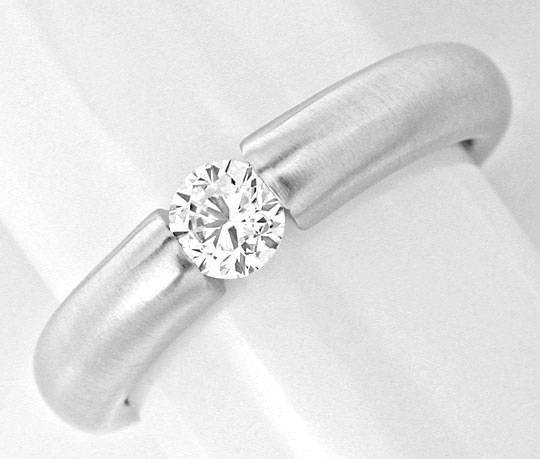 Originalfoto BRILLANT-SPANN-RING DIAMANT 0,33ct 18K-WEISSGOLD LUXUS!