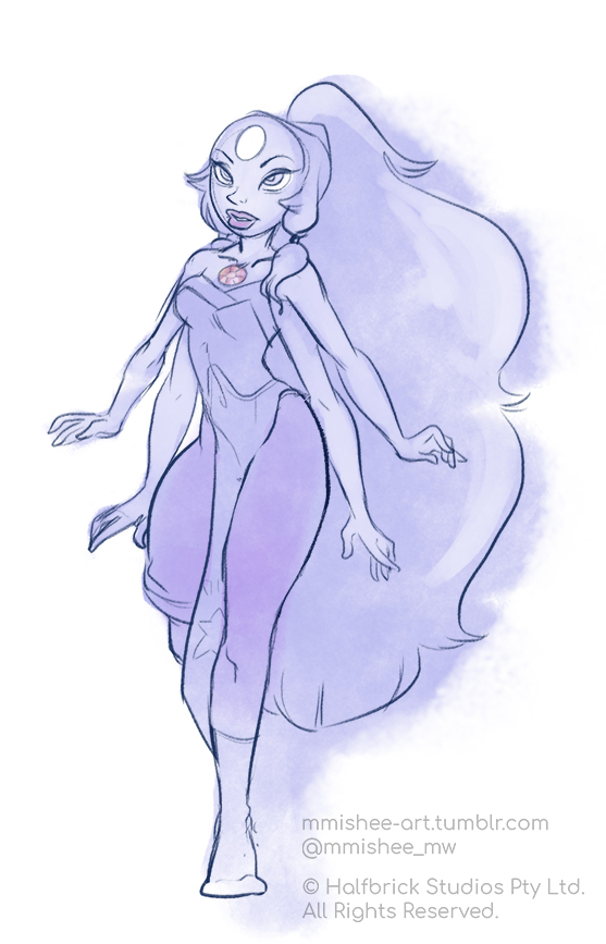 Work challenge: Draw a character in one of your favourite artist's style (we … did a lot of these now that I'm queueing these up…) I chose Opal from Steven Universe ( any excuse to draw these...
