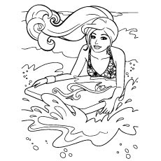 barbie beach coloring pages at getcolorings  free