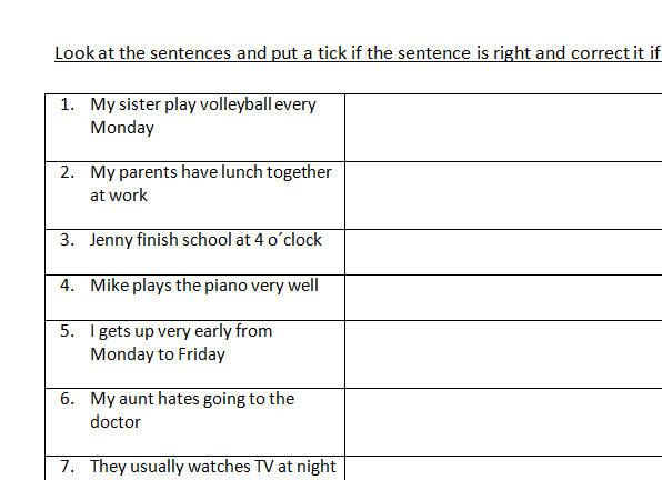 Sentence Correction Worksheets 4th Grade  hojas de cálculo pequeños and aprendizaje on