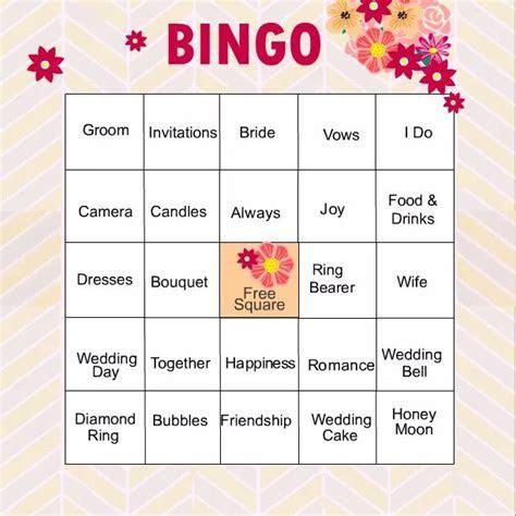 11 Free, Printable Bridal Showers Bingo Cards