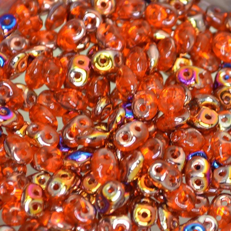 s42858 Czech Seedbeads - 2 Hole Superduos - Hyacinth Sliperit