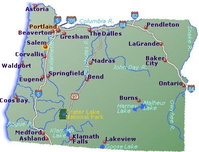Oregon Map Go Northwest A Travel Guide