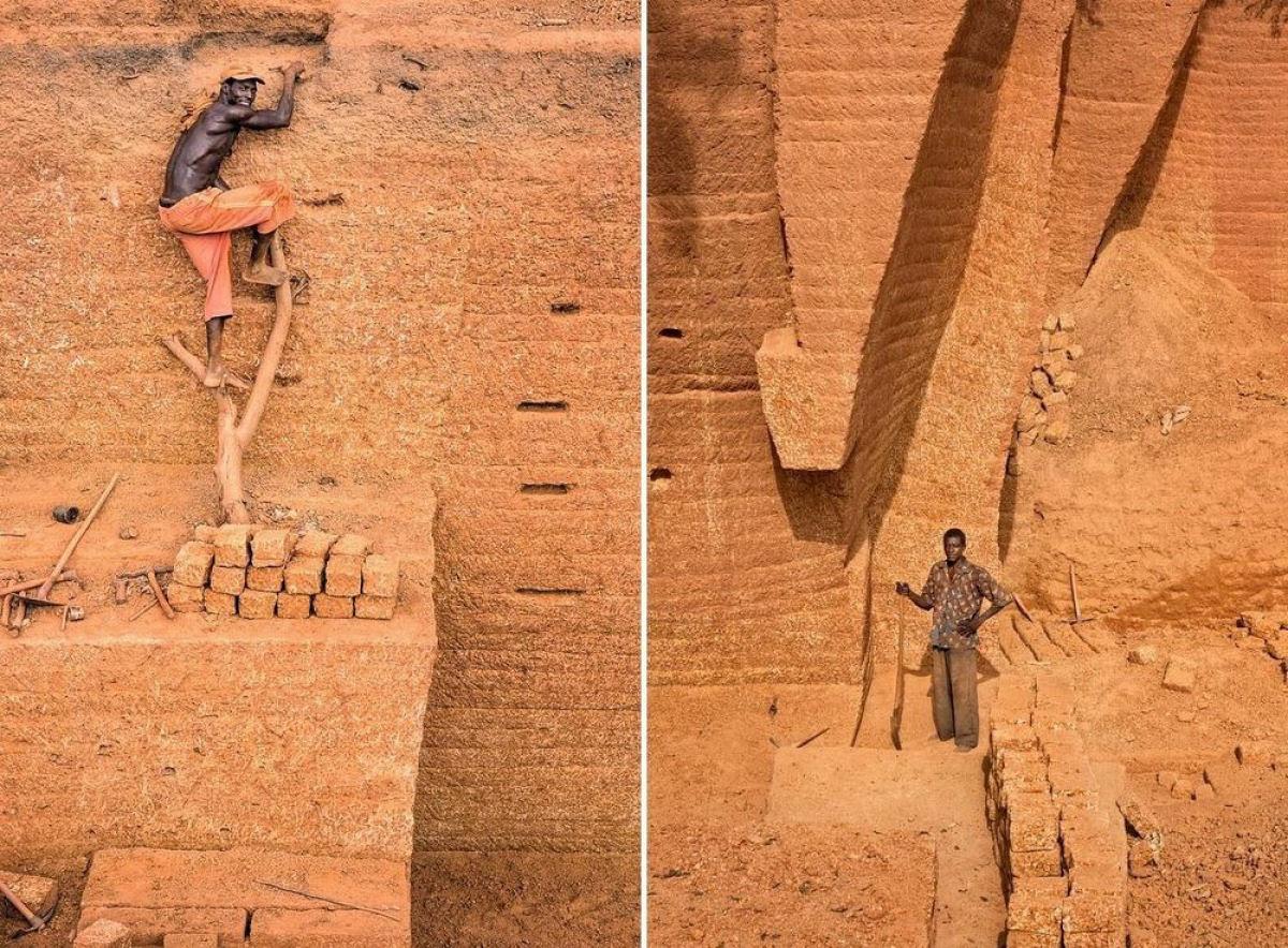 A pedreira de tijolos de Karaba em Burkina Faso 05
