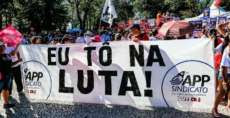 Apesar de decisão judicial, greve dos professores continua no Paraná