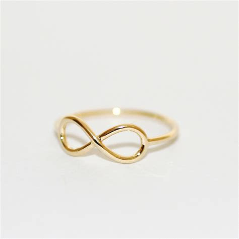 Yellow Golden INFINITY RING   Infinity Rings