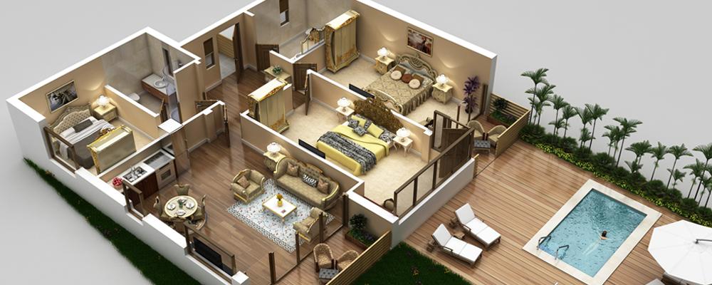 3D Vacation Rentals Property Floor Plans