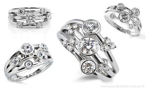 Raindance Inspired Diamond Rings & The Diamond Bubble Ring