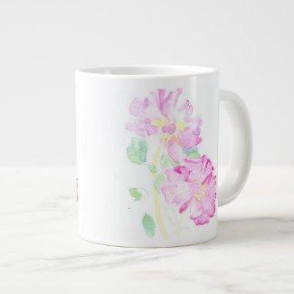 Delicate Pink Roses: Pretty Jumbo Mug