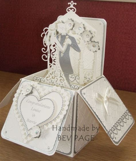 Wedding Pop Up Box using Tattered Lace, Spellbinders and