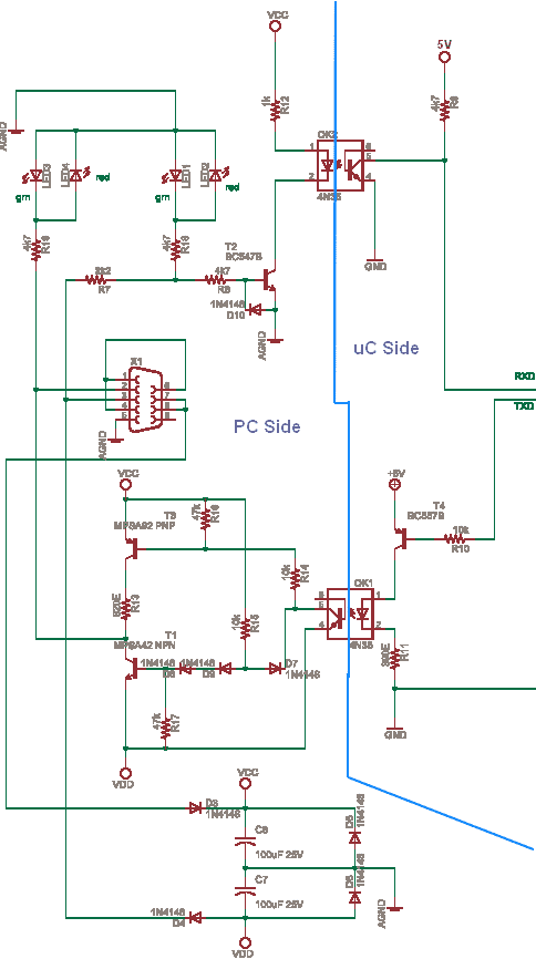 Schematics Of Delabs Circuit Diagrams Rs232 With Opto