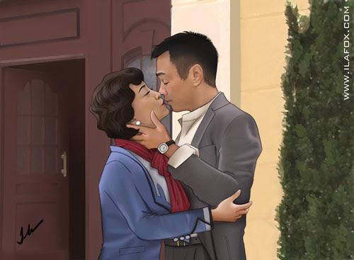 Retrato, beijo Sheren Tang, by ila fox