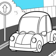 Dibujos Para Colorear Coche En La Carretera Eshellokidscom